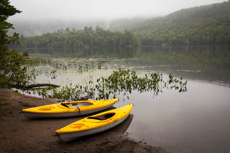 Canoeing at Camp Orenda, NY
