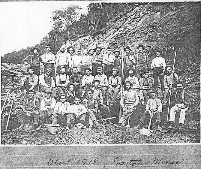 Historic group photo from Barton Mines