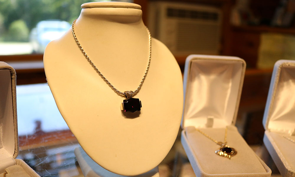 Garnet necklace at Garnet Studio