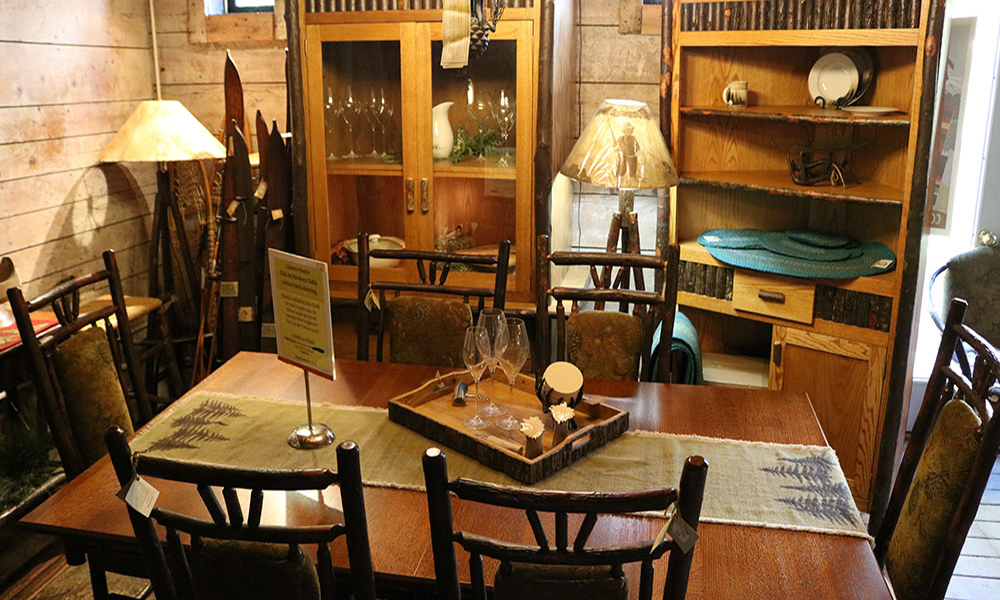 Adirondack furniture in the Hudson River Trading Company