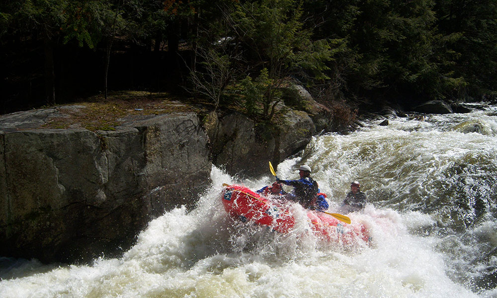 Big water with the North Creek Rafting Company