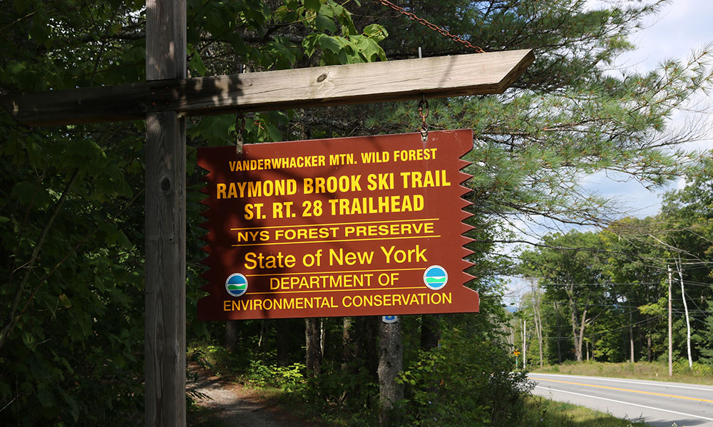 Sign for Raymond Brook Trail