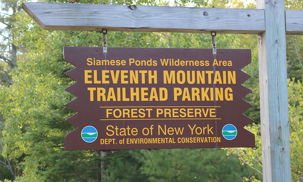 Signage for Siamese Pond Trail