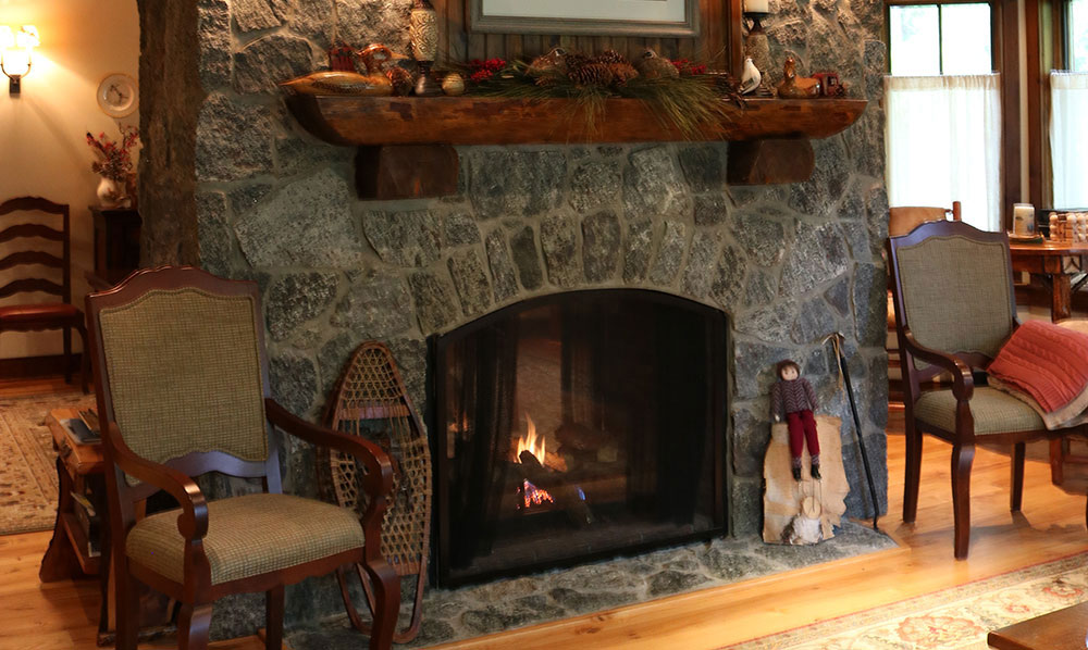Fireplace in Ski Bowl Village