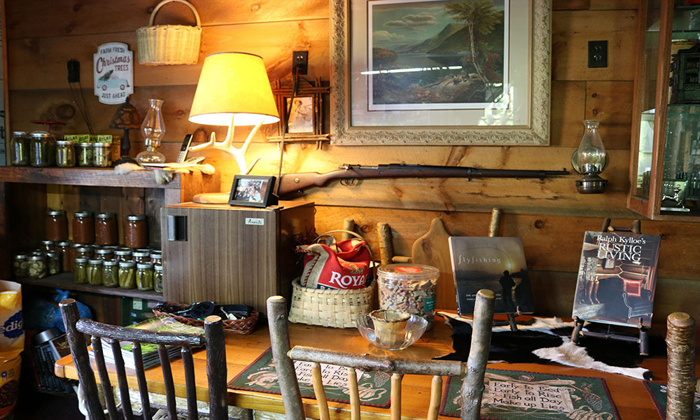 Rustic Furniture for sale at Streamside Fly Shop