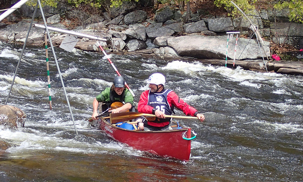 Rowing in the White Water Derby