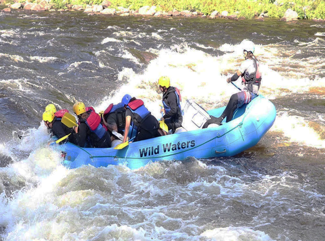 Exciting white water raftiing in the Town of Johnsburg