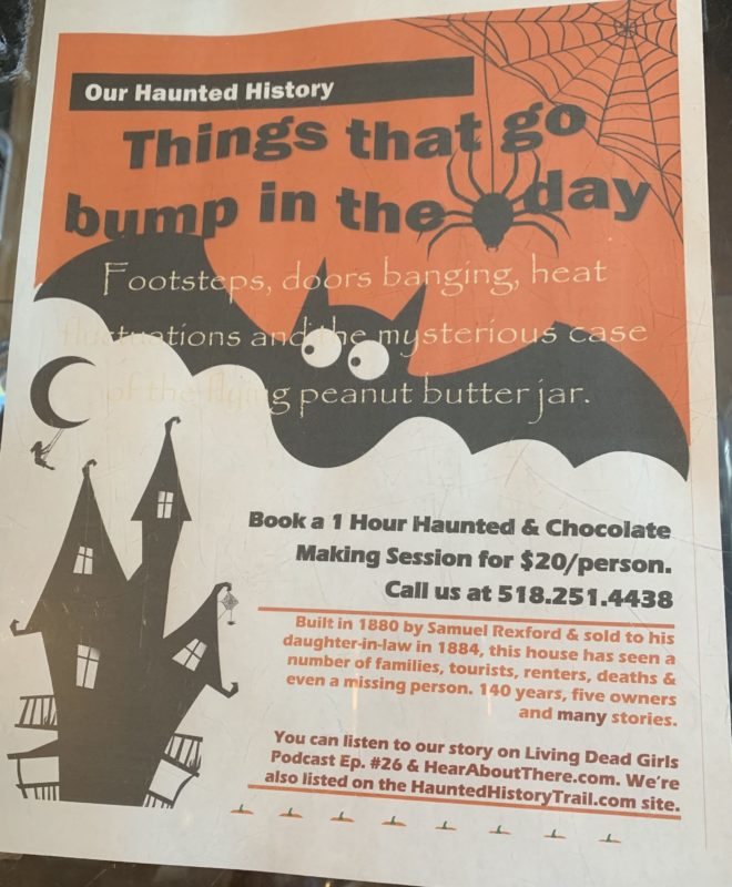 Flyer for Barkeater Chocolate's Haunted Factory Chocolate Session