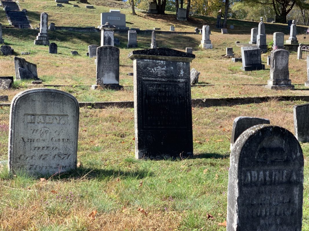Photo of headstones at North Creek Union Cemetery, North Creek, NY