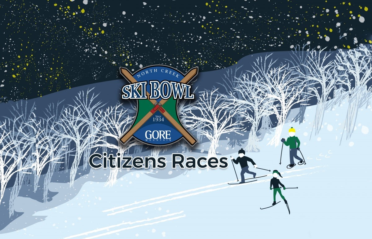 Poster graphic for the North Creek Ski Bowl Citizens Races