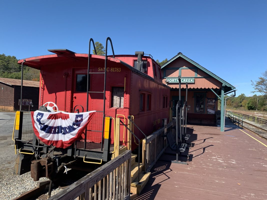 Caboose located at North Creek Depot Museum