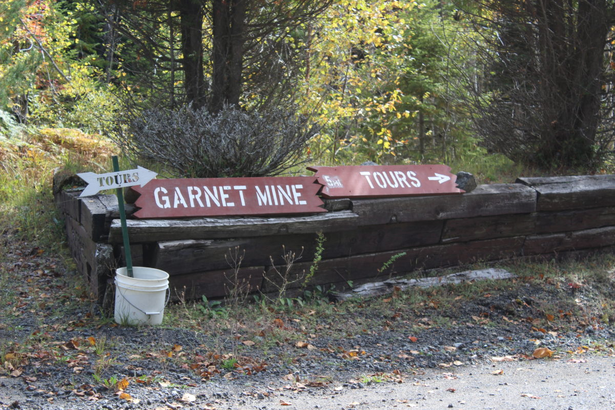 Garnet Mine Tours are offered in North Creek, New York