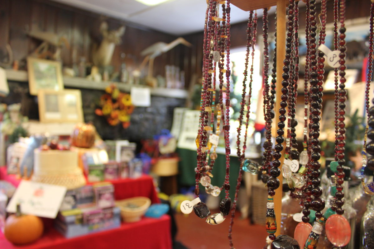 Jewelry in the Barton Garnet Mine Tours gift shop